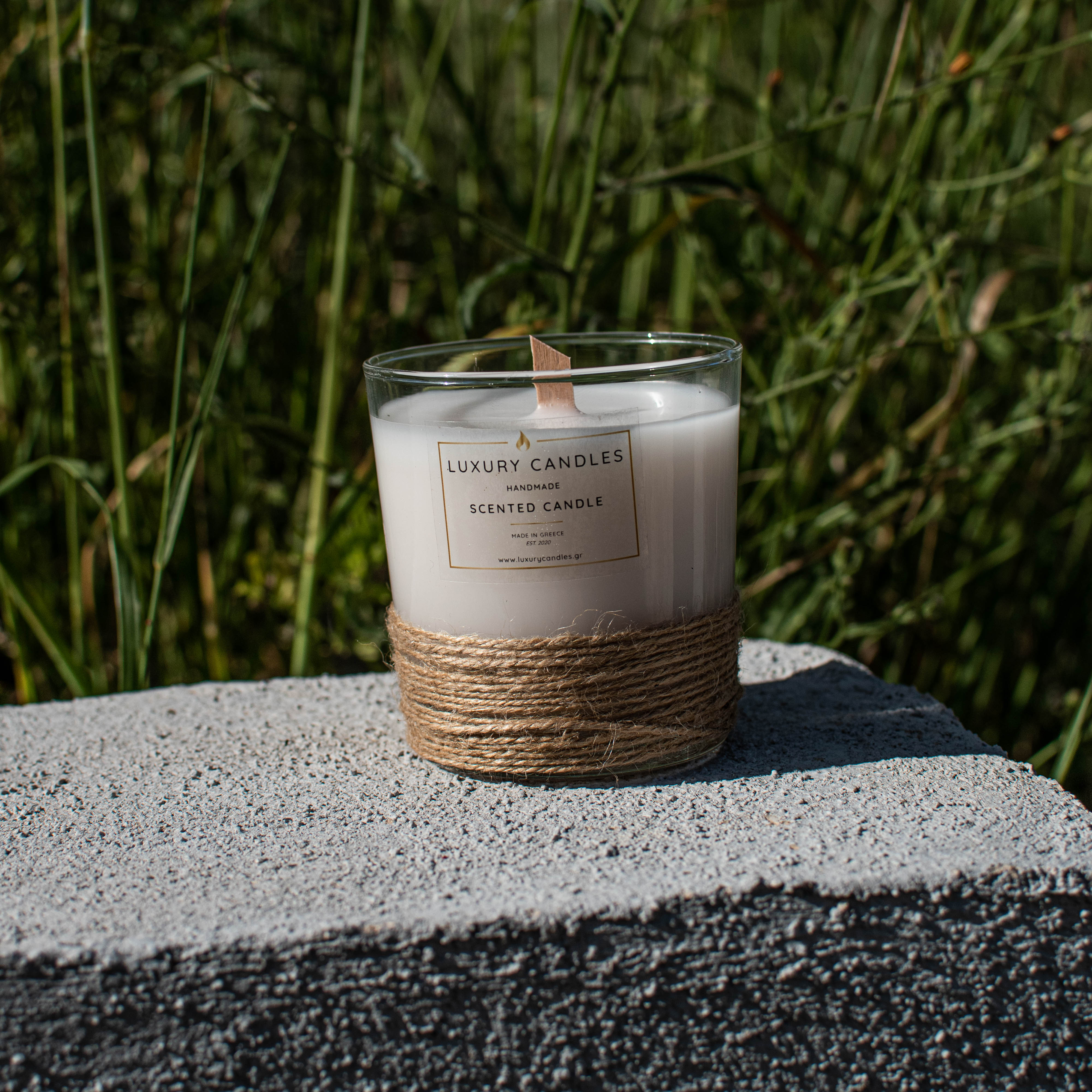 Wood Wick Candle in glass jar